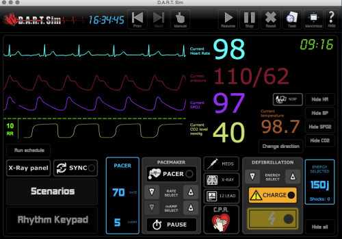 DART ECG Simulator Download ( 4 License ) Package for Windows/MAC Computers